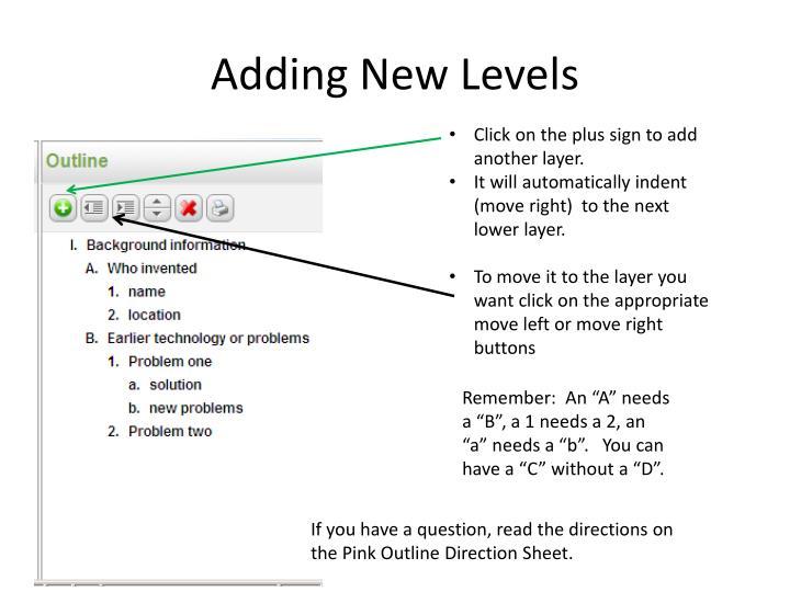 Adding New Levels