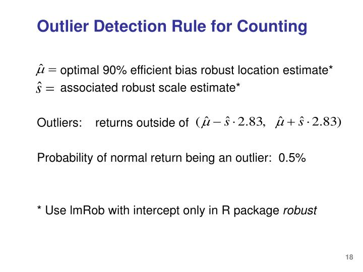 Outlier Detection Rule for Counting