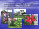 i have a beautiful home in austin i love to plant trees and i plant a garden every spring and fall