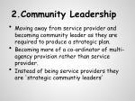 2 community leadership
