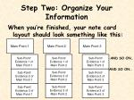 step two organize your information1