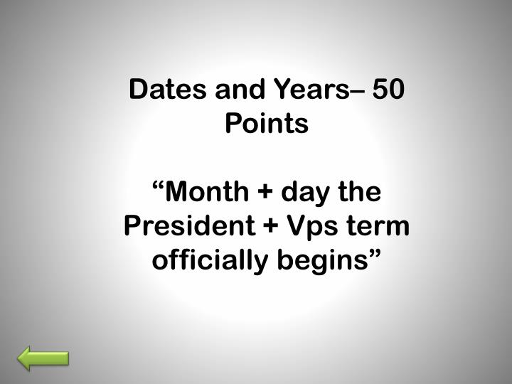 Dates and Years–