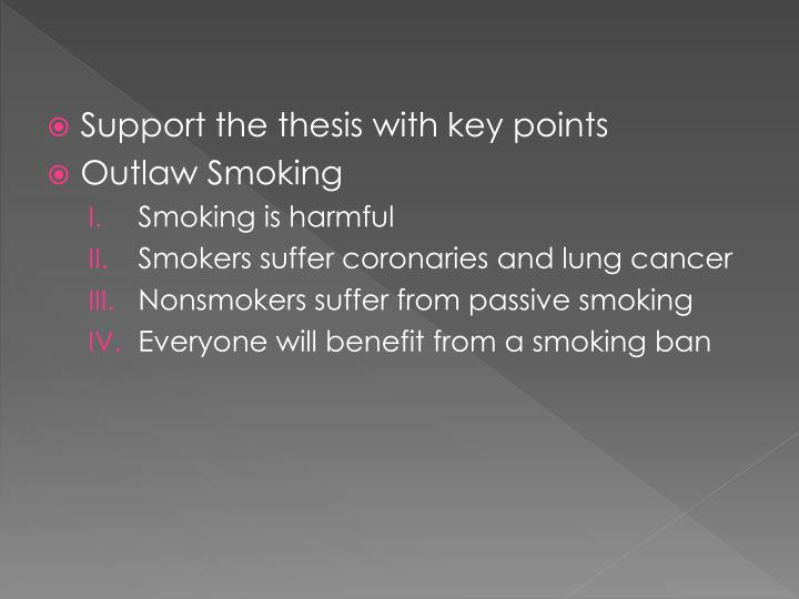 Support the thesis with key points