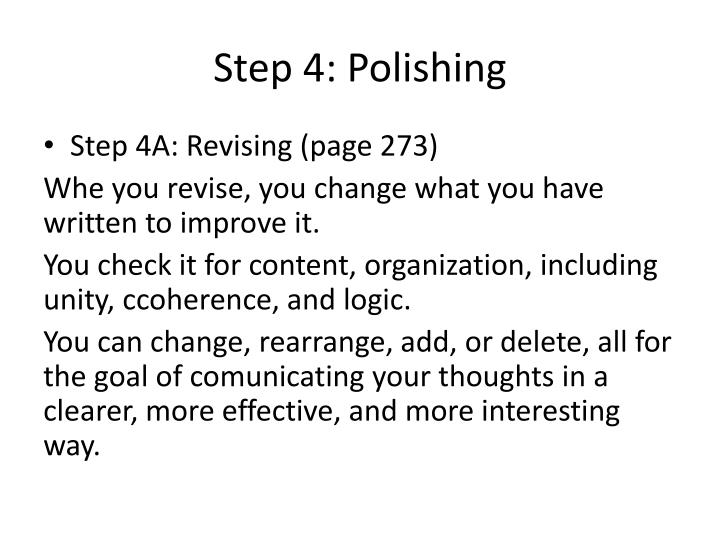 Step 4: Polishing