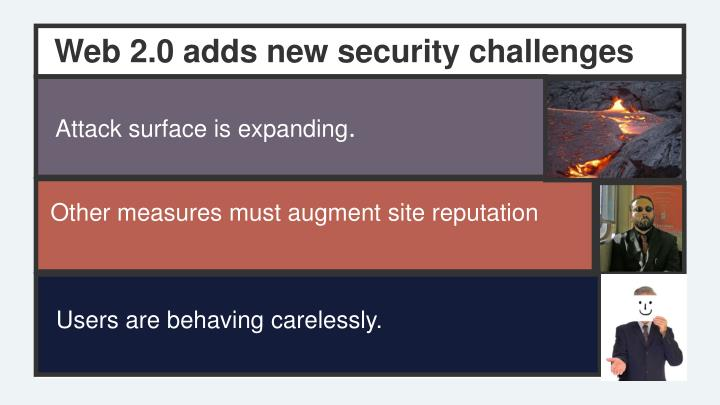 Web 2.0 adds new security challenges