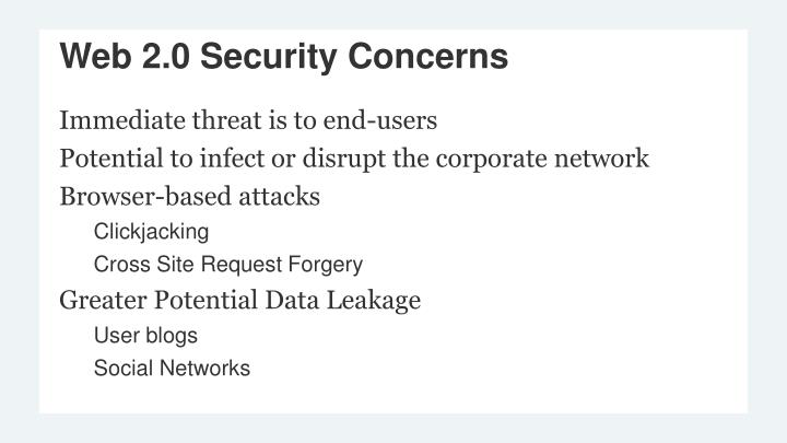 Immediate threat is to end-users