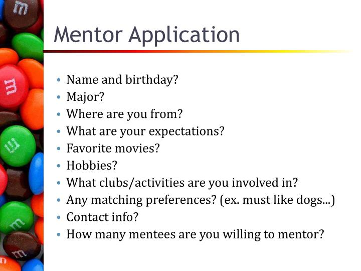 Mentor Application