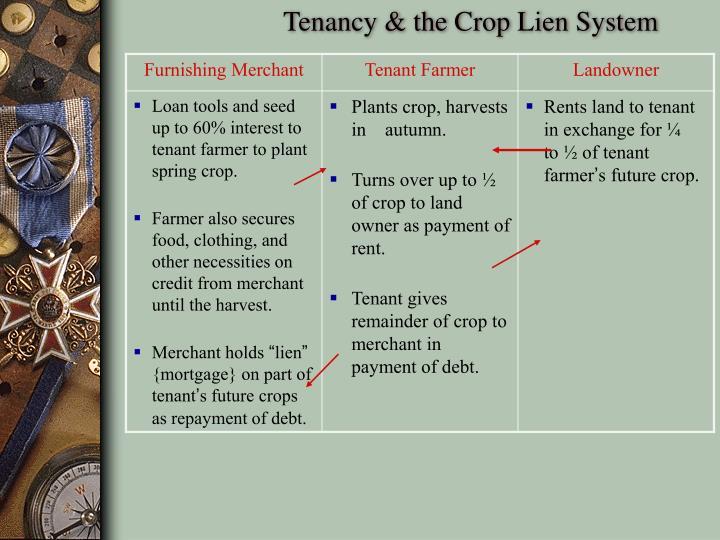Tenancy & the Crop Lien System