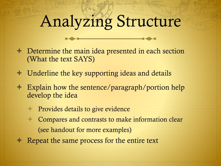 Analyzing Structure