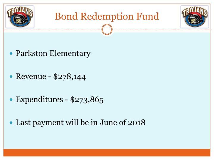 Bond Redemption Fund