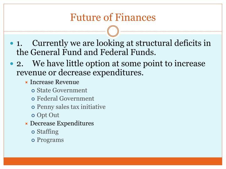 Future of Finances