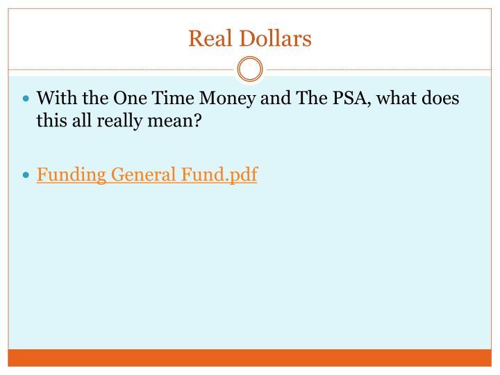Real Dollars