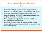 recommendations to the board1