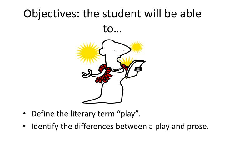 Objectives the student will be able to