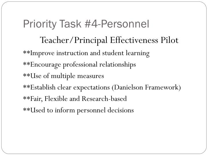 Priority Task #4-Personnel