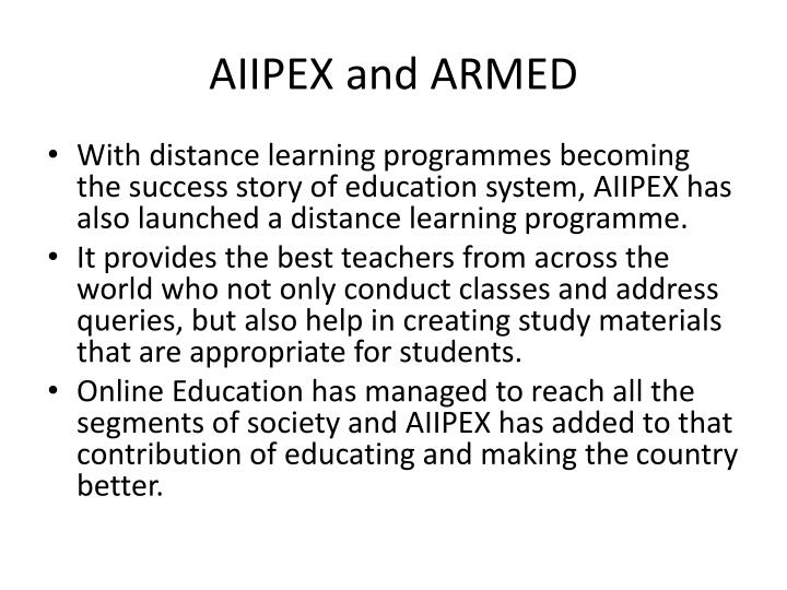 AIIPEX and ARMED
