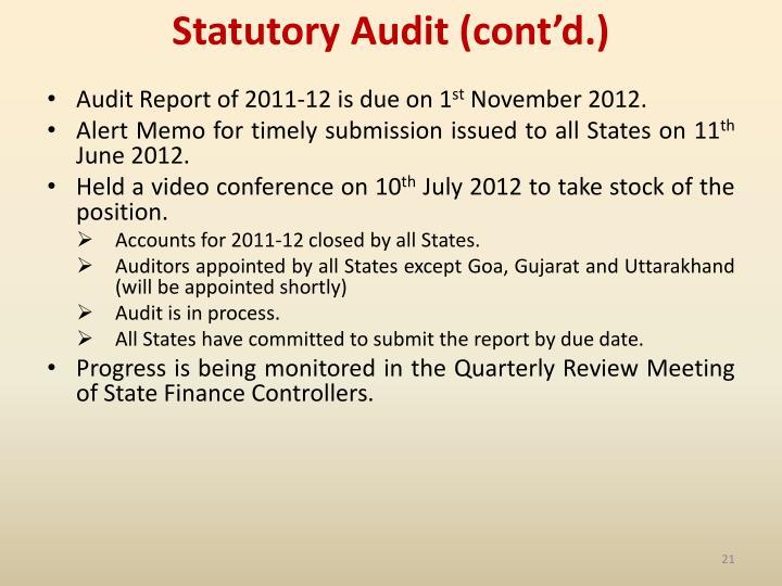 Statutory Audit (cont'd.)