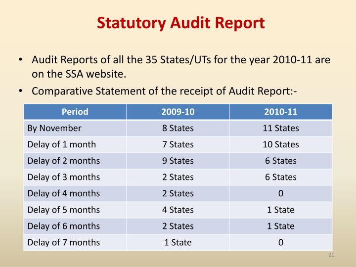 Statutory Audit Report