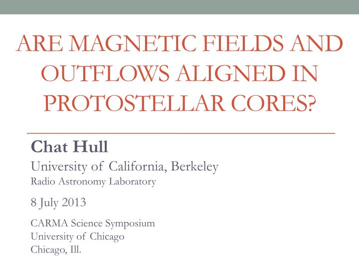 are magnetic fields and outflows aligned in protostellar cores