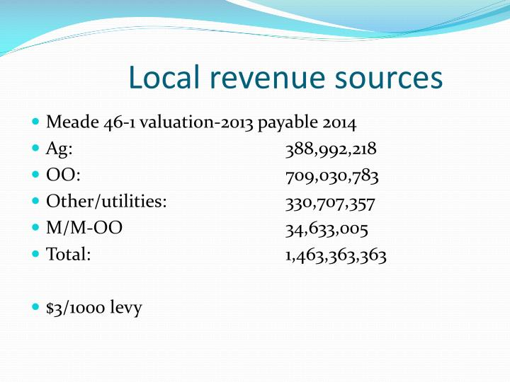 Local revenue sources