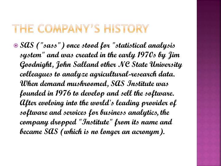 The company's history