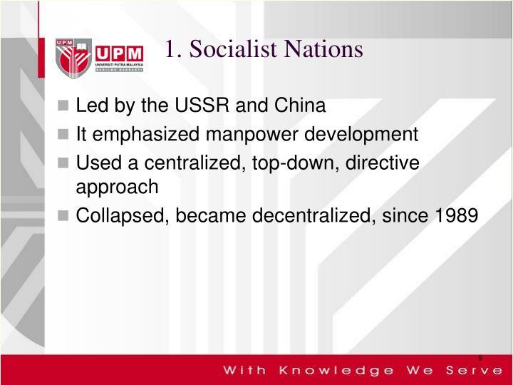 1. Socialist Nations