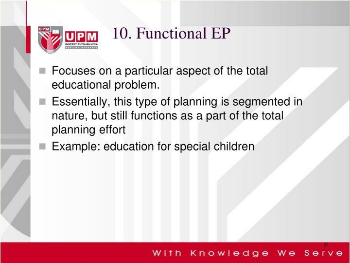 10. Functional EP