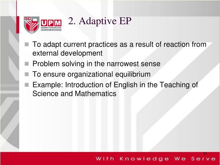 2. Adaptive EP