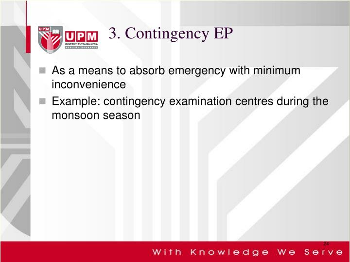 3. Contingency EP