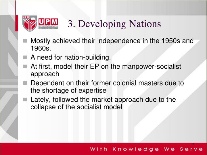 3. Developing Nations