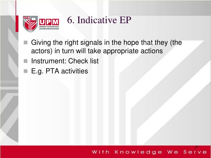 6. Indicative EP