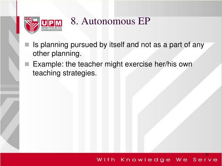 8. Autonomous EP