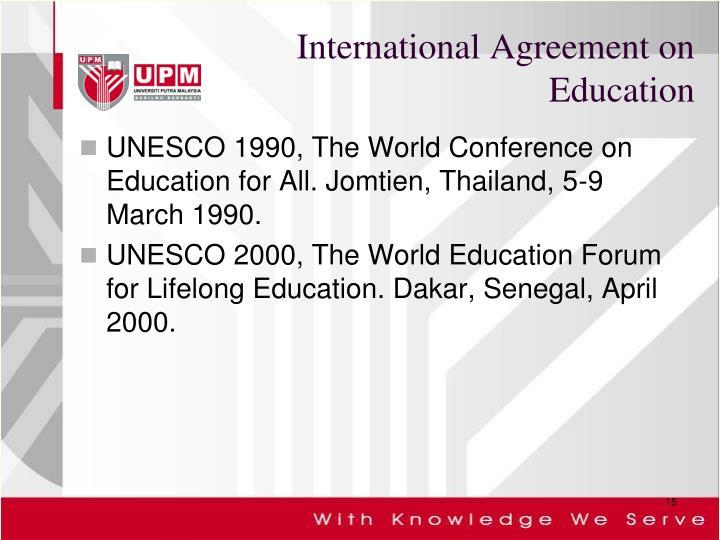 International Agreement on Education