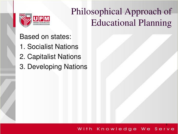 Philosophical Approach of Educational Planning