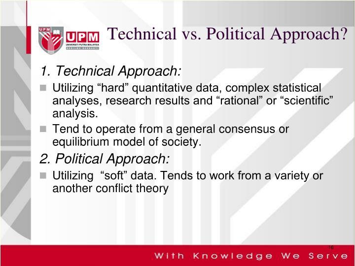 Technical vs. Political Approach?
