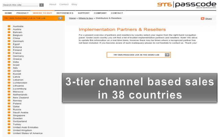 3-tier channel based sales