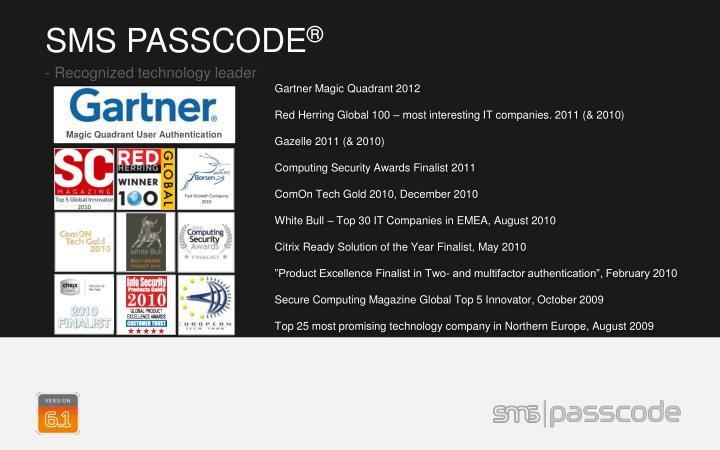 Magic Quadrant User Authentication