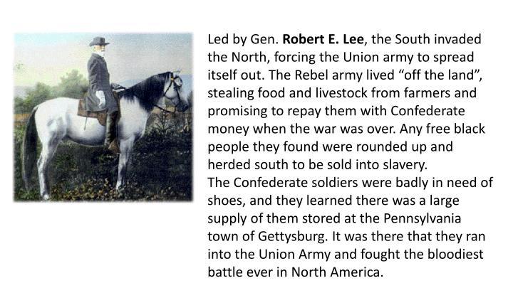 Led by Gen.