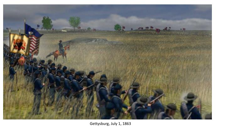 Gettysburg, July 1, 1863