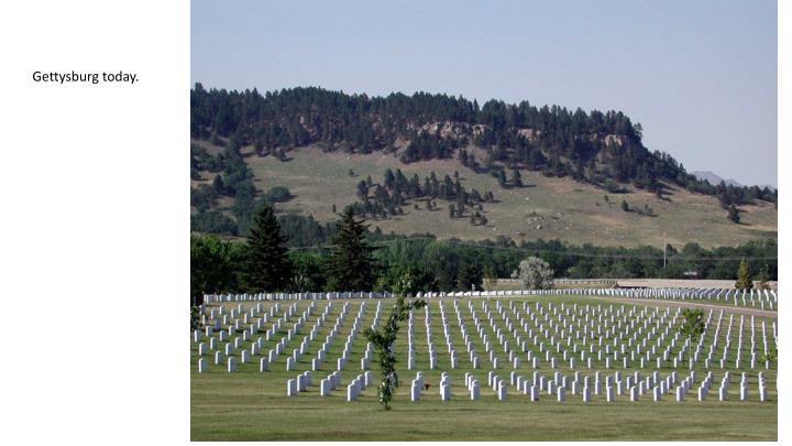 Gettysburg today.