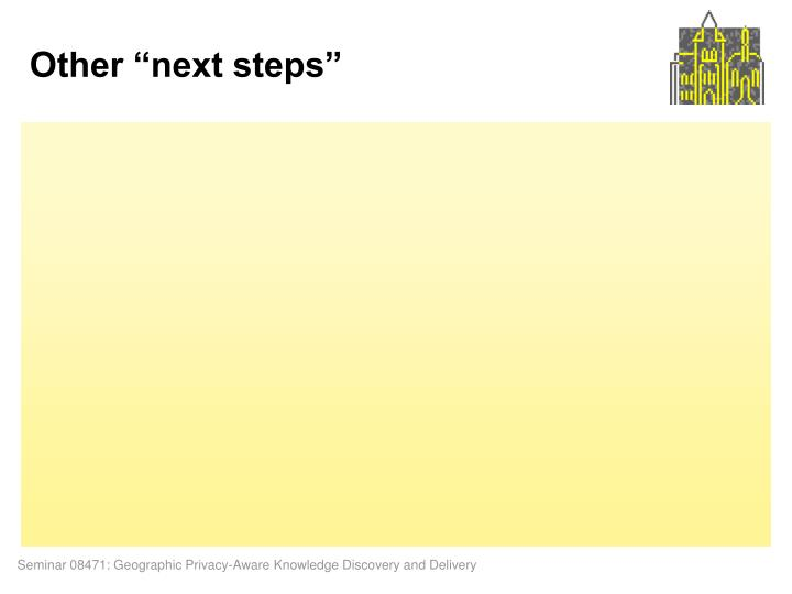 "Other ""next steps"""