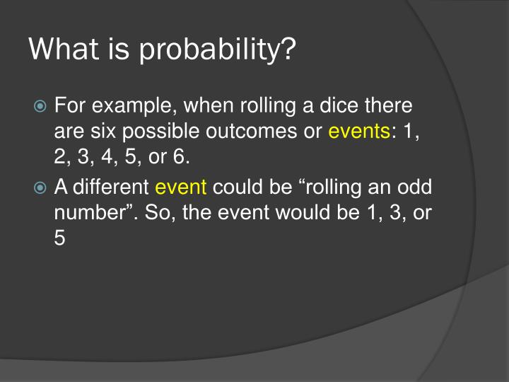 What is probability1