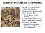 legacy of the catholic reformation