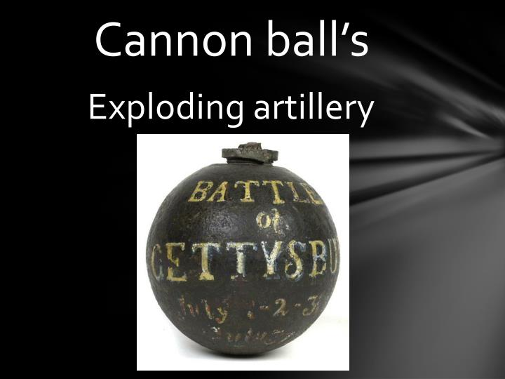 Cannon ball's