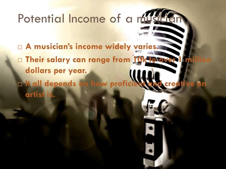 Potential Income of a musician
