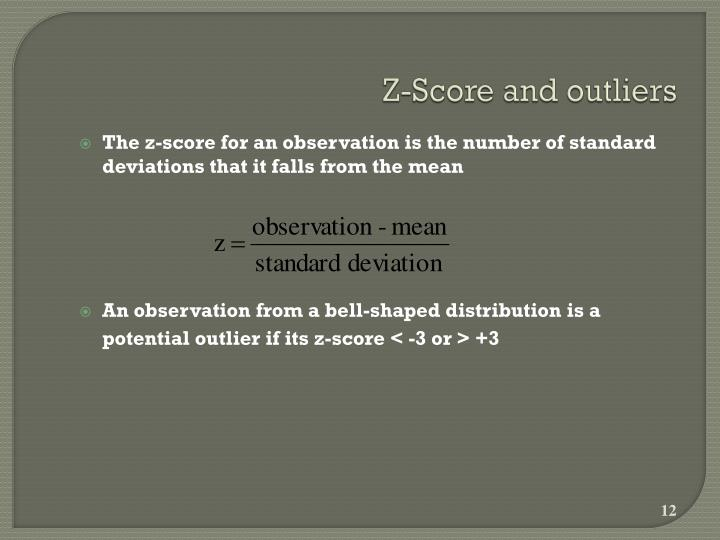 Z-Score and outliers
