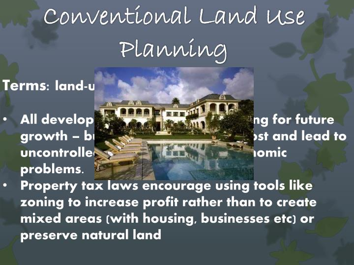 Conventional Land Use Planning