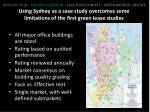 using sydney as a case study overcomes some limitations of the first green lease studies