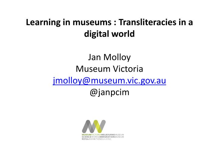 Learning in museums :