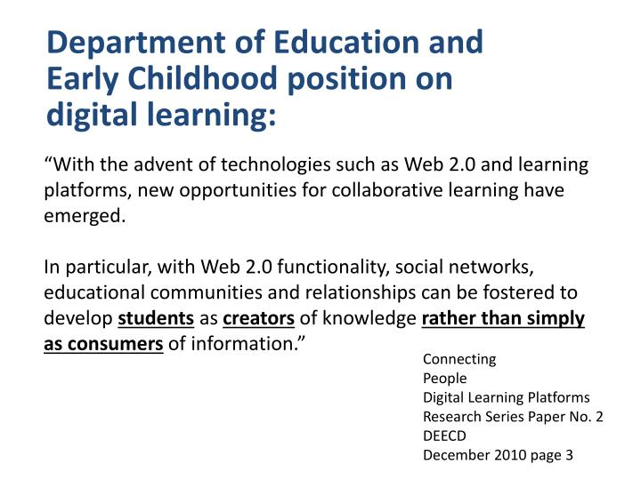 Department of Education and Early Childhood